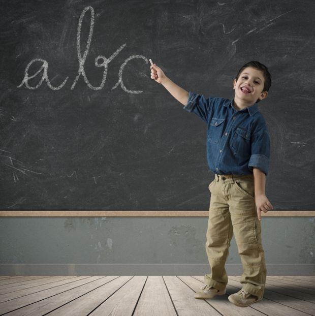 dziecko, szkoła, uczeń, tablica