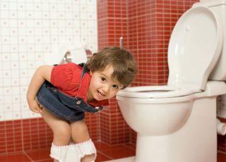 dziecko, toaleta