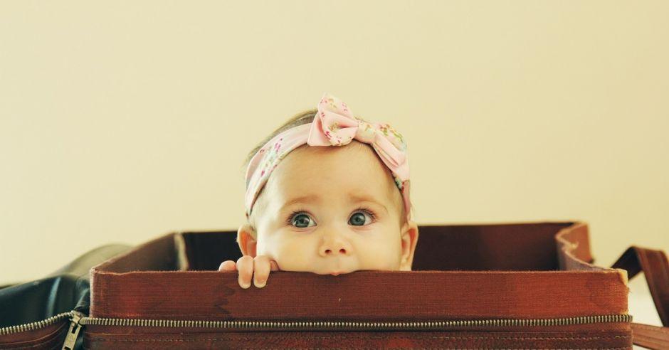 Dziecko w podróży, walizka