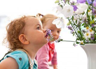 dziecko wąha kwiatki