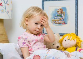 Dziecko z grypą żołądkową
