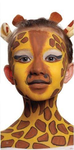Dziecko z pomalowaną buzią - Żyrafa