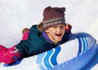 dziecko, zabawa, zima, śnieg