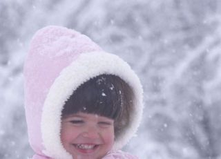 dziecko, zima