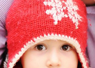 dziecko, zima, czapka
