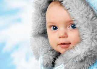 dziecko, zima, kombinezon