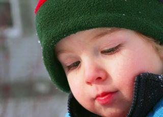dziecko, zima, śnieg