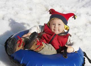 dziecko, zima, spacer
