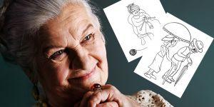 Dzień Babci, Kolorowanki dla Babci, Laurki dla Babci