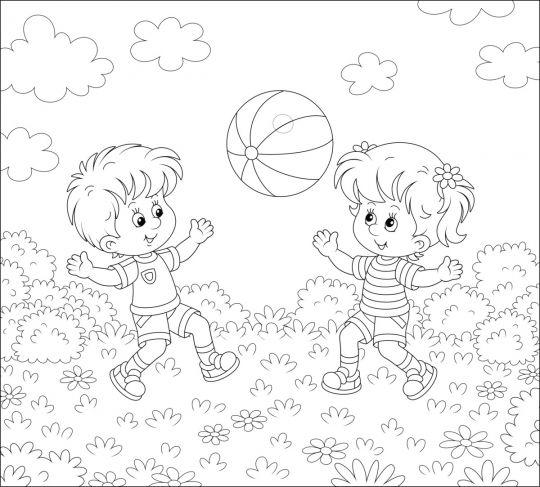 Dzień Dziecka kolorowanki: obrazek 2