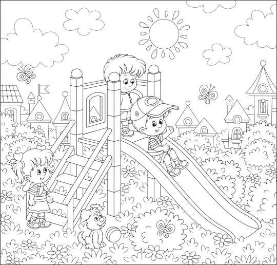 Dzień Dziecka kolorowanki: obrazek 5