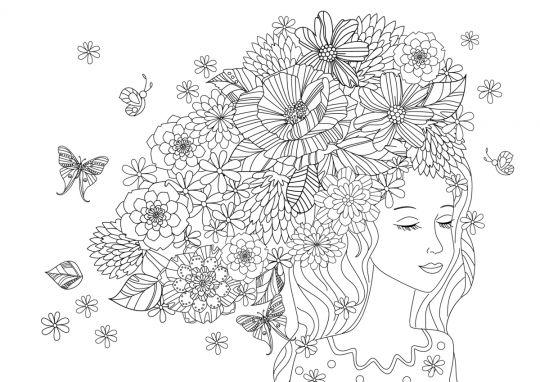 dzień kobiet kolorowanki kobieta marzycielka