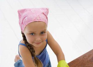 dziewczynka, dziecko, obowiązki, zmywanie