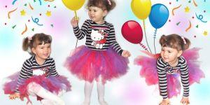 dziewczynka w spódniczce baletowej z tiulu