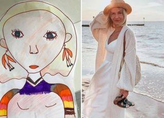 Edyta Pazura pokazała, jak narysowało ją jej dziecko