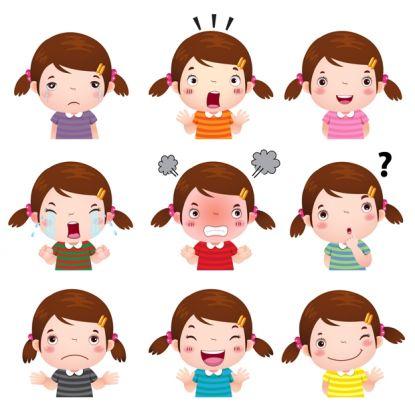 Znalezione obrazy dla zapytania obrazki dzieci z emocjami