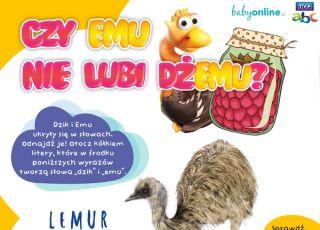 Emu - łamigłówka do druku