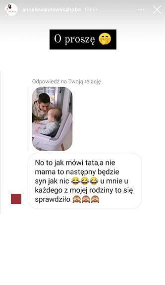 Fanka Ani Lewandowskiej przepowiada narodziny synka