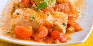 filet, ryba, pomidory, potrawa, jedzenie, kuchnia