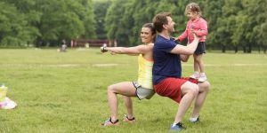 fit mama, Ania Dziedzic, ćwiczenia z dzieckiem, Dzień Ojca
