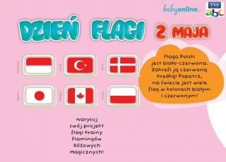 Flaga - gra logiczna do druku