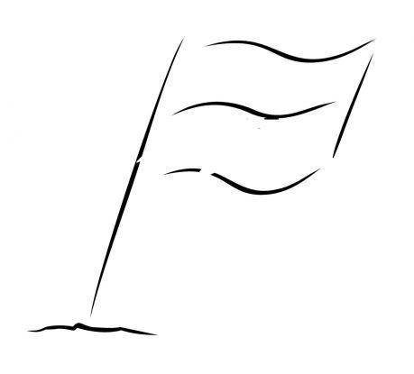 kontur flagi Polski do kolorowania