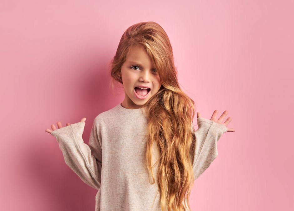fryzura dla dziewczynki, długie włosy