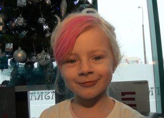 fryzura dla dziewczynki, fryzura z grzywką, fryzury dla dzieci, kok dla dziewczynki