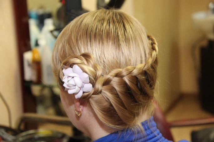 Korona z włosów na komunię