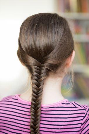 Kłos fryzura na komunię