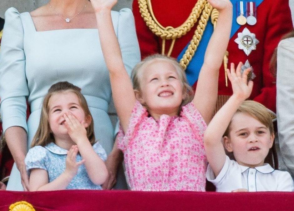 George i Charlotte na urodzinach królowej