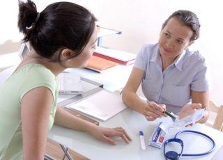 ginekolog, kobieta, lekarz
