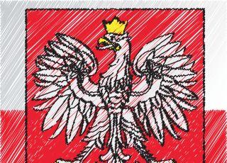 godło polski kolorowanka