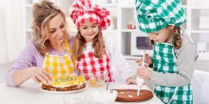gotowanie, kuchnia, mama, dzieci, pieczenie