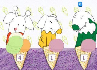 gra lody, gra dla dzieci, nauka liczenia, Bazgroszyt.pl