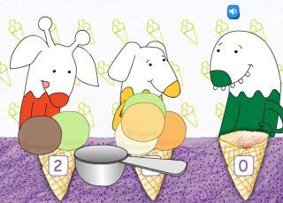 gra lody, nauka liczenia, gra online dla dzieci, gra dla dzieci