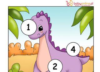 gra logiczna, gra dla dzieci, dinozaur, zagadka dla dzieci