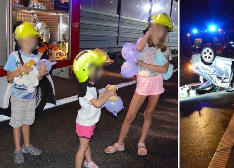 groźny wypadek z udziałem dzieci