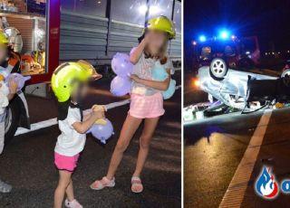 Groźny wypadek z udziałem dzieci: pomoc strażaków na medal!