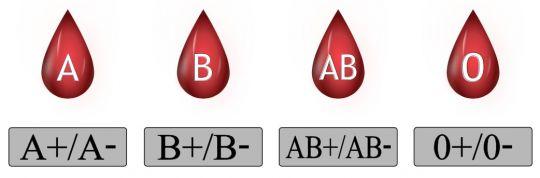 grupy krwi z czynnikiem Rh
