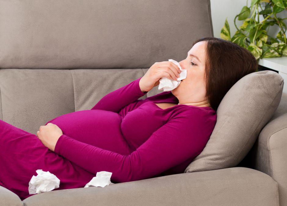 grypa w ciąży