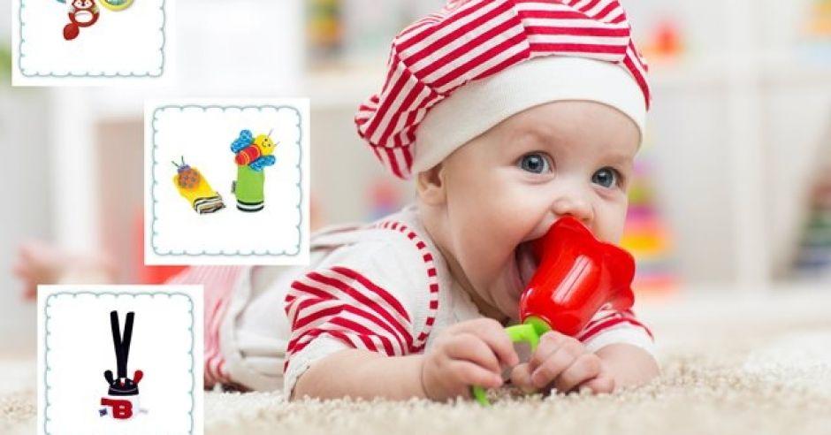 grzechotki dla niemowlaka