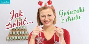 gwiazdki z drutu na choink, jak zrobić ozdoby świąteczne