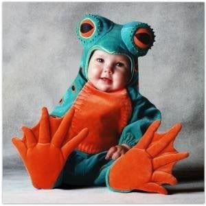 Halloween, przebranie na Halloween, dziecko żaba, przebranie dla dziecka