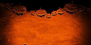 Halloweenowe dynie - grafika