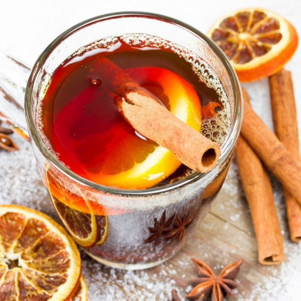herbata, pomarańcza, grog