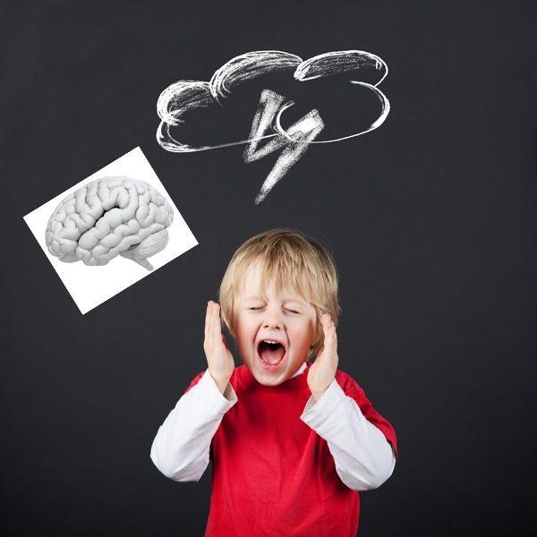 histeria, dziecko, krzyk, złość, mózg