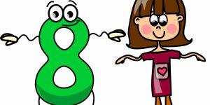 horoskop dla dzieci, numerologia, ósemka