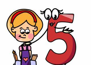 horoskop dla dzieci, numerologia, piątka