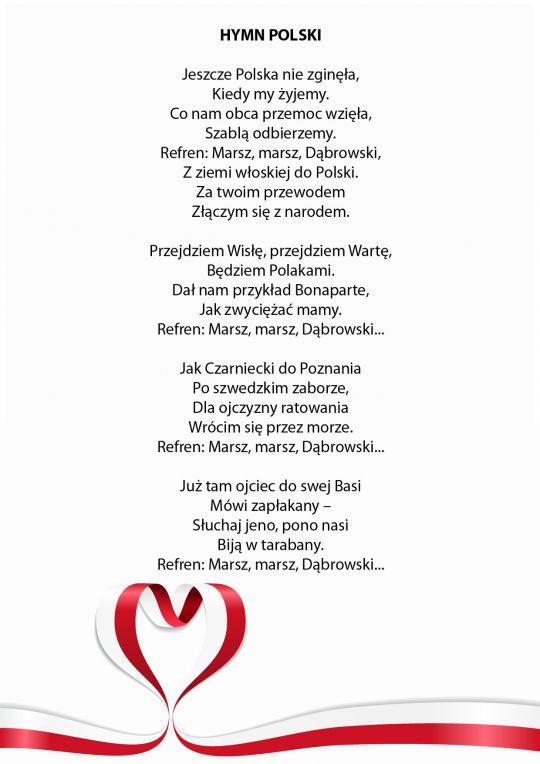 hymn Polski do druku
